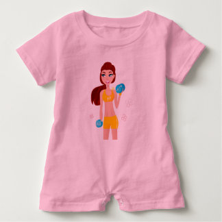 BABY FIT MOTIVATION TSHIRT   PINK