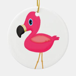 Baby Flamingo Christmas Ornament