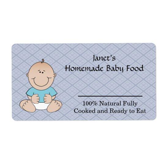 Baby Food Jar label