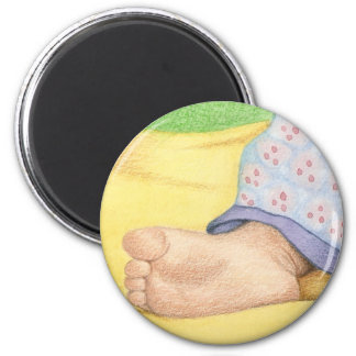 Baby foot 6 cm round magnet