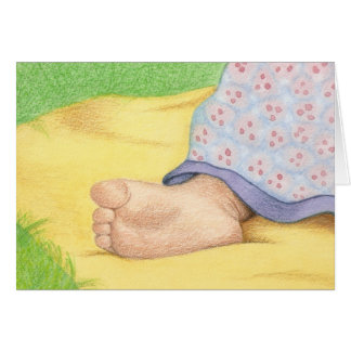 baby foot / Congratulations on Adoption Stationery Note Card