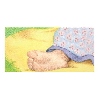 Baby foot photo cards