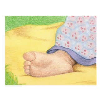 Baby foot postcard