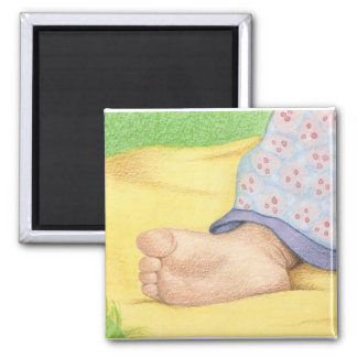 Baby foot square magnet