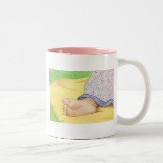 Baby foot Two-Tone mug