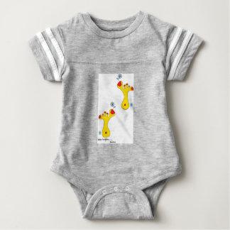 Baby football body suit, baby buddha foot(s), 412 baby bodysuit