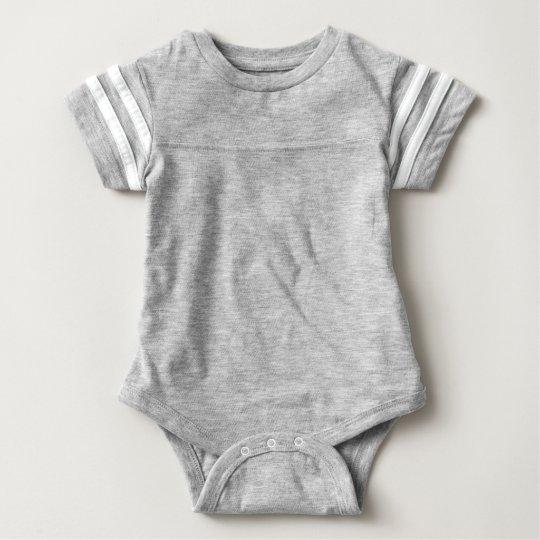 Baby Sport Bodysuit, Heather Grey