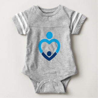 Baby Football Bodysuit - Grey