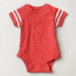 Baby Football Bodysuit Red
