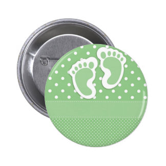 Baby  Footprints Adorable 6 Cm Round Badge