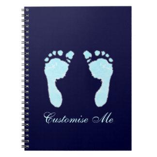 Baby Footprints (Boy) Notebooks