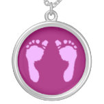 Baby Footprints (Girl) Personalised Necklace