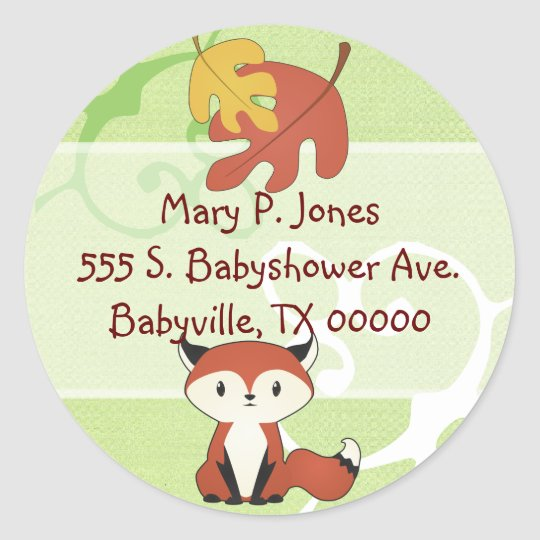 Baby Fox Address Label Stickers