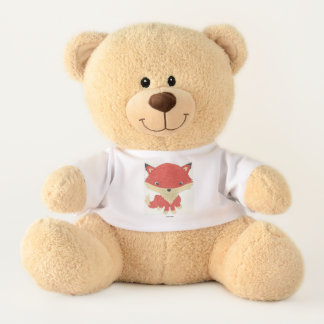 Baby Fox T-Shirt Stuffed Teddy Bear