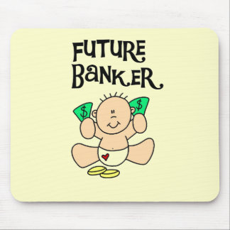 Baby Future Banker T-shirts and Gifts Mousepad