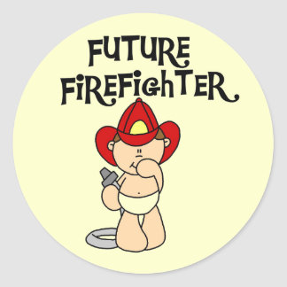 Baby Future Firefighter Tshirts and Gifts Classic Round Sticker