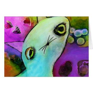 Baby Gato™ Cute Sad Glitter Eye Kitten Greeting Card