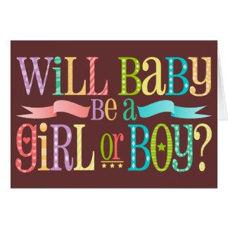 Baby Gender Reveal - Custom Note Cards