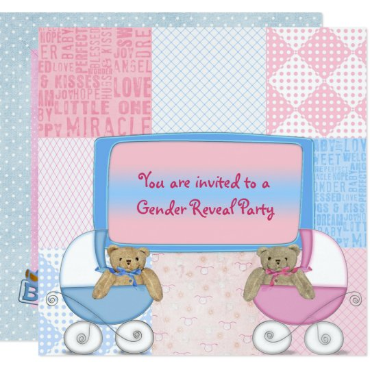 Baby Gender Reveal Party Card