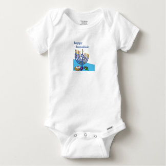 Baby Gerber Cotton Bodysuit, Happy Hanukkah Baby Onesie