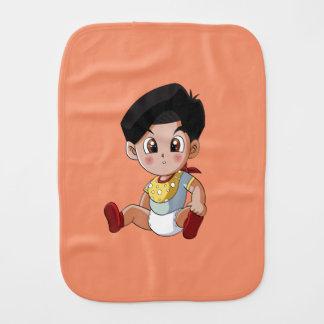 Baby Ghenny Orange Burp Cloth