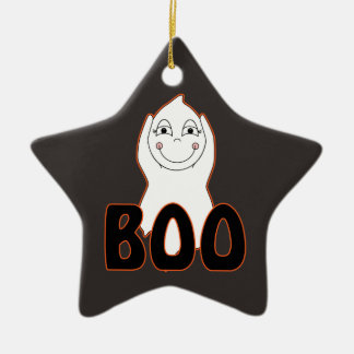 Baby Ghost Playing With Boo Saying Christmas Ornament