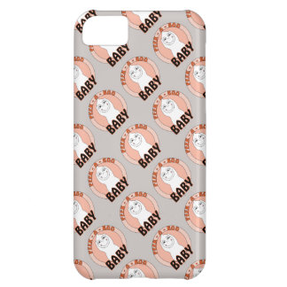 Baby Ghost Playing With Peek A Boo Saying Case For iPhone 5C