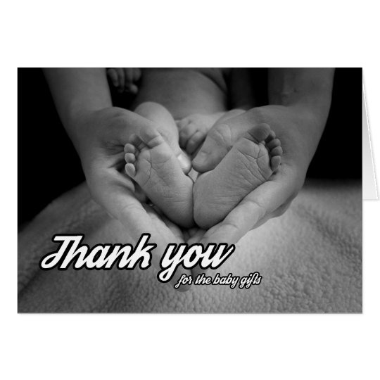 baby gift thank you card