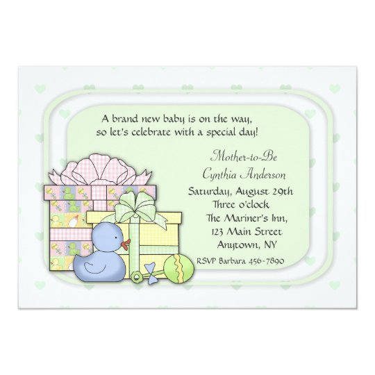 Baby Gifts Green Card