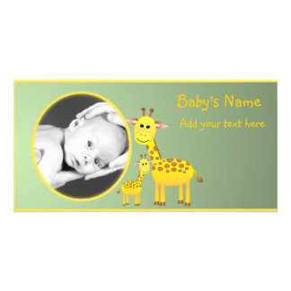 Baby Giraffe Announcement Photo Greeting Card
