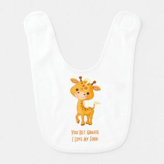 BABY GIRAFFE BIB