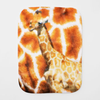 Baby Giraffe Burp Cloth