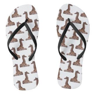 Baby Giraffe Frenzy Flip Flops (choose colour)