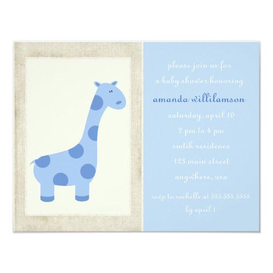 Baby Giraffe Invitation