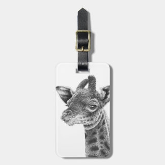 Baby Giraffe Luggage Tag