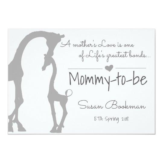 Baby Giraffe Mummy To Be Pregnancy Announcement