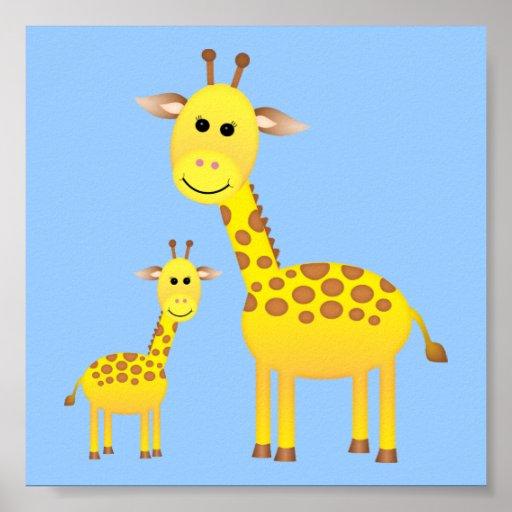 Baby Giraffe/ Nursery Decor Posters
