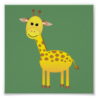Baby Giraffe/ Nursery Decor Poster