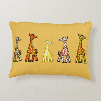 Baby Giraffes In A Row Accent Pillow