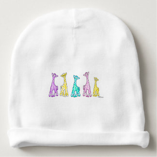 Baby Giraffes In A Row Baby Hat Baby Beanie