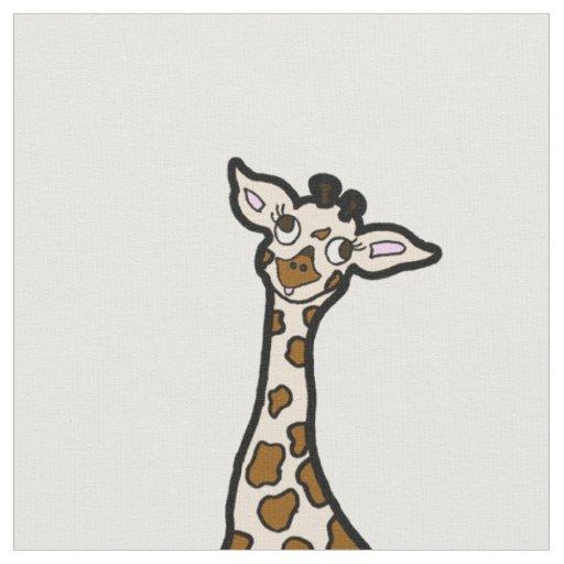 Baby Giraffes In A Row Fabric