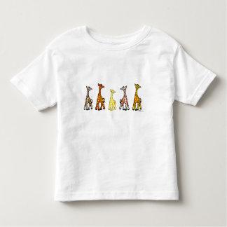 Baby Giraffes In A Row Toddler T-Shirt