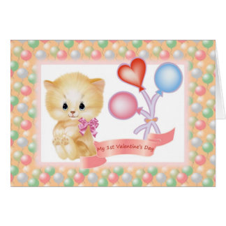 Baby - girl 1st Valentine's Day card. Card