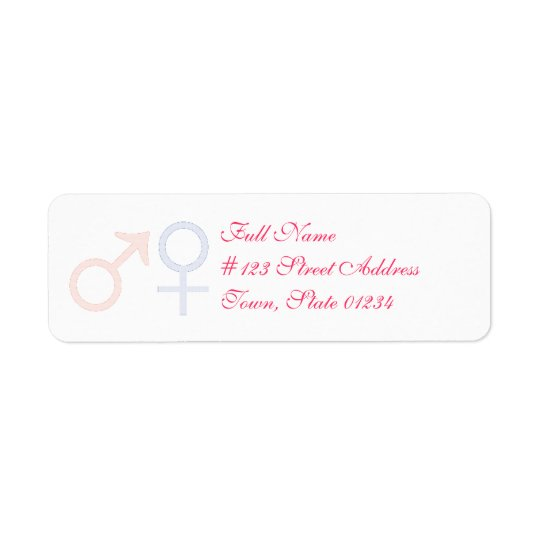 Baby Girl and Baby Boy Mailing Labels