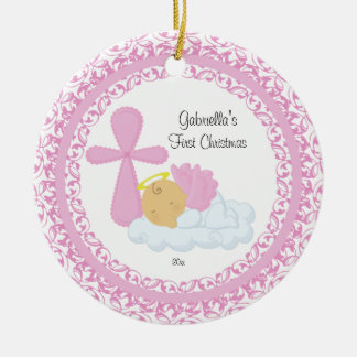 Baby Girl Angel Baby's First Christmas Ornament