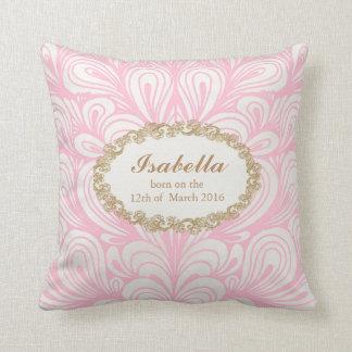 Baby Girl announcement pillow