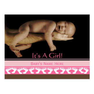 Baby Girl Announcement Post Card