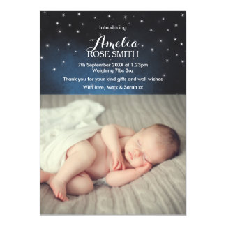 Baby girl announcement/thank you card 13 cm x 18 cm invitation card
