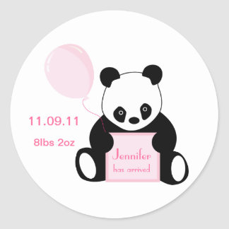 Baby girl arrival personalised name stickers