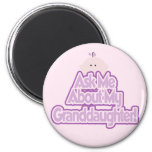 Baby Girl Ask About My Granddaughter Tshirts Refrigerator Magnet